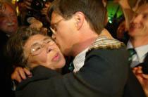 Balkenende met zijn Moeder